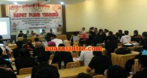 Rapat Pleno Terbuka, KPU Konawe Tetap DPT Pilgub dan Pilbup Tahun 2018