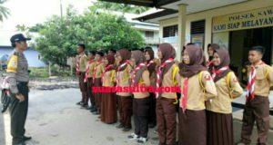 Saka Bhayangkara Ranting Sektor Sawa Aktif Melaksanakan Latihan