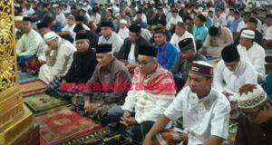Ribuan Masyarakat Konawe Sholat IED di Masjid Agung Babussalam, Perosesi Sholat IED Berjalan Lancar