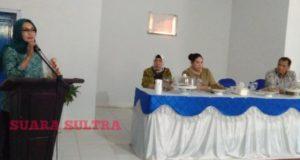 Supervisi 10 Program PKK, Ketua TP PKK Sultra Kunker di Konawe