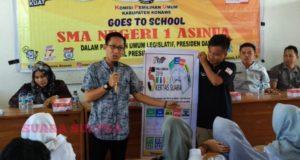 Perkenalkan Jenis Surat Suara, Komisioner KPU Konawe 'Masuk' Sekolah