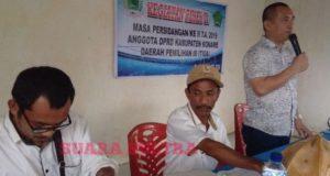 Hari Kedua Reses,  Wakil Ketua DPRD Pilih Desa Tetemotaha