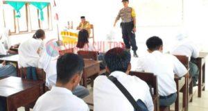 Polsek Sawa Sosialisasi Penerimaan Calon Polisi di SMAN 1 Sawa