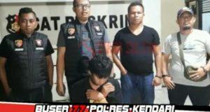 Curi Handphone Lewat Jendela, Residivis Kasus Pencurian Ditangkap Buser 77 Polres Kendari