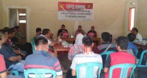 Gelar Coffee Morning, Polsek Pondidaha bersama Muspika Siap Ciptakan Pilkades Sejuk dan Damai