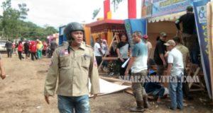 Jelang Pembukaan, Bupati Konawe Pantau Kesiapan Stan Konawe Expo