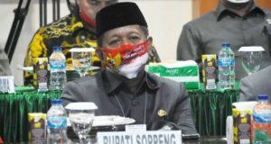 Bupati Soppeng Bersama Forkopimda Ikuti Video Teleconfrence Dengan Panglima TNI dan Kapolri