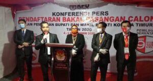 KPU Koltim Resmi Tutup Pendaftaran Bapaslon Kada