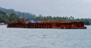 Kapal Tongkang Terdampar di Perairan Konut, Tim Gabungan Lakukan Penyelidikan