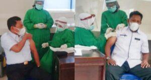 Bupati dan Wakil Bupati Butur Jalani Vaksinasi Covid 19 Tahap Pertama