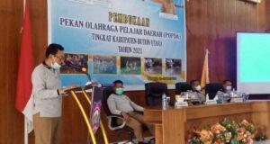 Bupati Butur Buka Pekan Olahraga Pelajar Tingkat Kabupaten