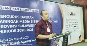 Berikan Sambutan Pengukuhan Pengurus JMSI, Ruksamin: Media yang Membesarkan Saya