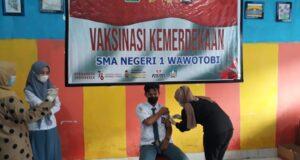 Gerai Vaksinasi Kemerdekaan Maksimal, Stok Vaksin Polres Konawe Habis