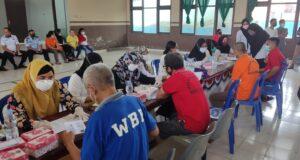 Ratusan Warga Binaan Pemasyarakatan Rutan Unaaha Menjalani Vaksinasi Covid-19