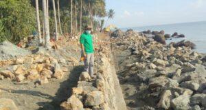 Pemdes Pudonggala Utama Siap Mengawal Program Pembangunan Abrasi Pantai